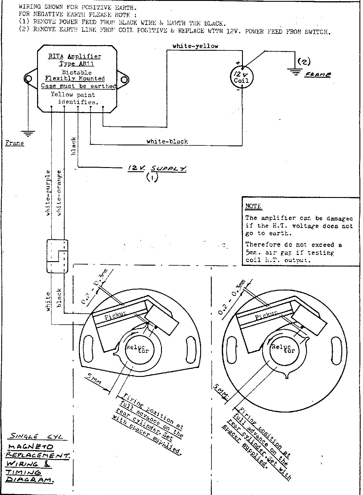 Euro Spares Electronic Components Wiring A Commando Plug Diagram For Installing The Lr134 Rita Ignition Magneto Replacement Single Parallel Twin