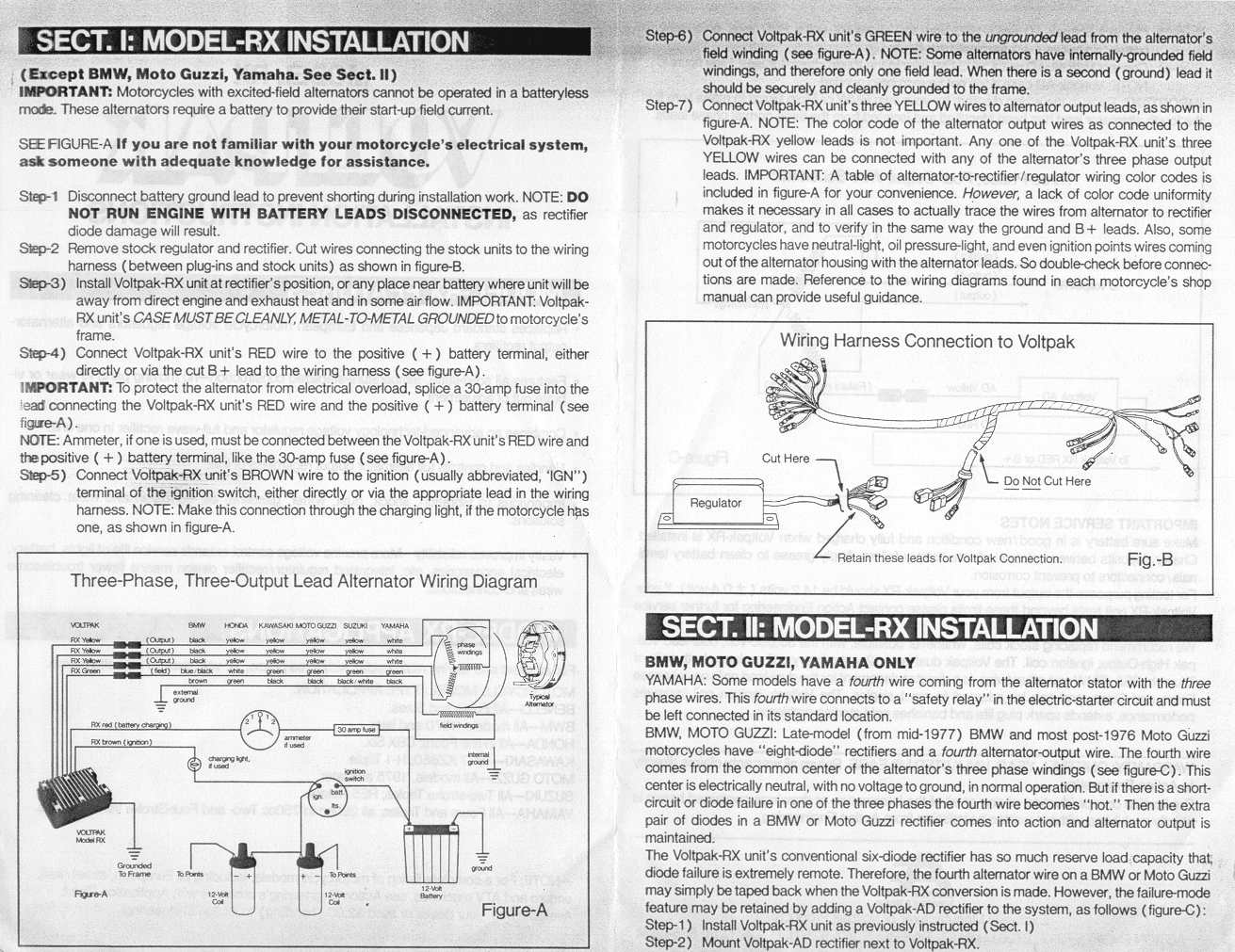 Lucas Rita Ignitions And Powerbase Alternator Kits Triumph Wiring Diagram Boyer Voltpak Model Rx Instructions Page 2